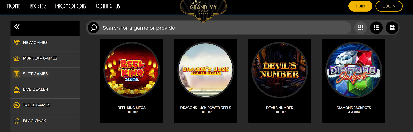 Grand Ivy Casino has one of best slots bonus packages of any UK gambling site