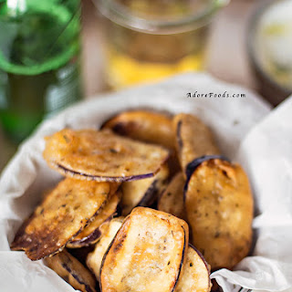 Crispy, Thin Greek Fried Eggplant Recipe (Melitzanes tiganites)