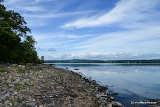 Photo: The shorline of Lake Champlain at Burton Island State Park by Raven Schwan-Noble