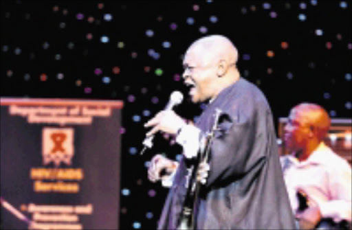 ICON: Hugh Masekela performing during the Maapsa Benefit concert at Carnival City, where he also celebrated his 70th birthday. 30/03/2009. Pic. Bafana Mahlangu. © Sowetan.