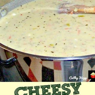 Cheesy Burger Soup.