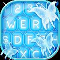 Neon Butterfly Keyboard icon