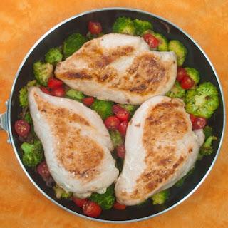 Chicken, Tomato, And Broccoli Skillet