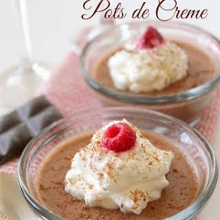Chocolate + Rum Pots de Creme.