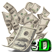 Falling Money 3D Wallpaper