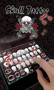 Skull Tatto GO Keyboard Theme - náhled
