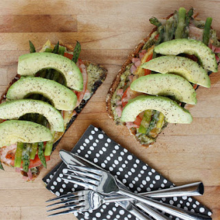 Ham, Asparagus, and Avocado Tartines