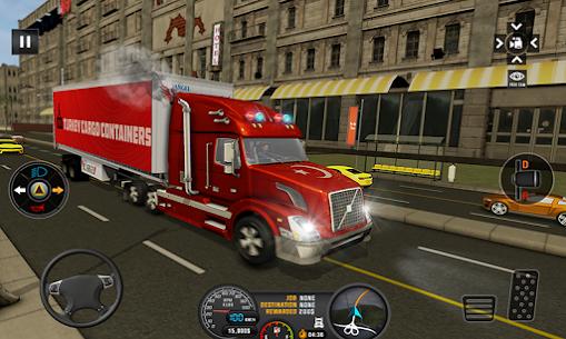 Euro Truck 3D Simulator 2019 Cargo Truck Transport 1.8 Mod + Data Download 2