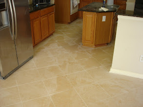 Photo: 16x16 floor decor diagnal tile installation
