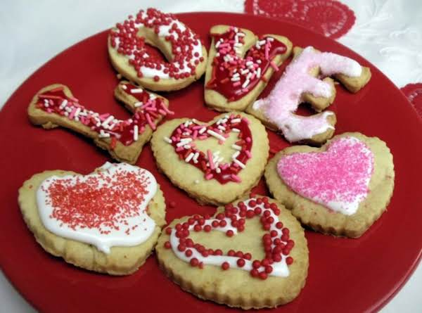Valentine Sugar Cookies  - Citrus Flavored Recipe