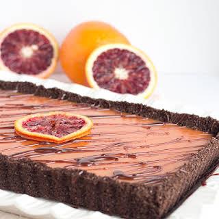 Chocolate Blood Orange Tart.