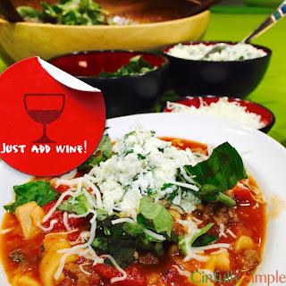 Lazy Lasagna Soup (Slow Cooker)