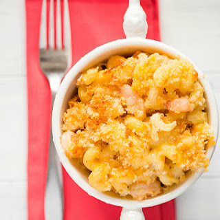Cajun Shrimp Macaroni and Cheese.