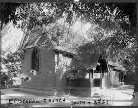 Photo: The Church of the Saviour Chapel in 1895 at the original location on 3rd St. and Douty St., Hanford CA