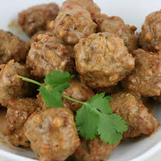 Slow Cooker Meatballs in Peanut Chile Sauce.