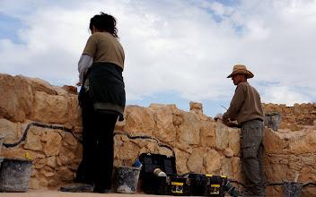 Photo: Rebuilding Masada