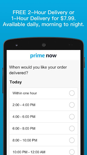 Amazon Prime Now screenshot 3