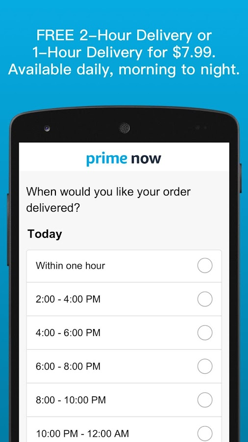 Amazon Prime Now- screenshot