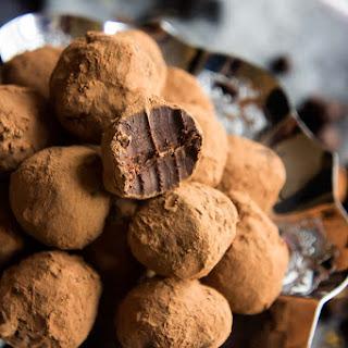 Lady Grey Tea Dark Chocolate Truffles.