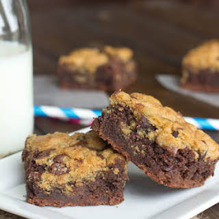Chocolate Chip Cookie Brownie Bars.