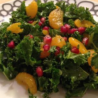 Citrus Kale and Pomegranate Salad