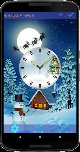 Christmas Clock Live Wallpaper screenshots 3