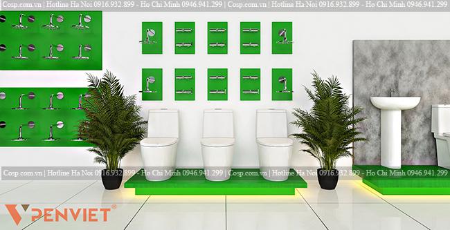 Thiết kế kệ trưng bày các sản phẩm nhà tắm