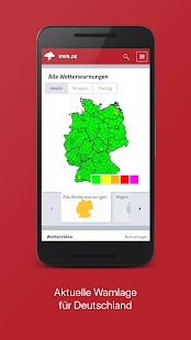 Deutsches Unwetterradar Screenshot