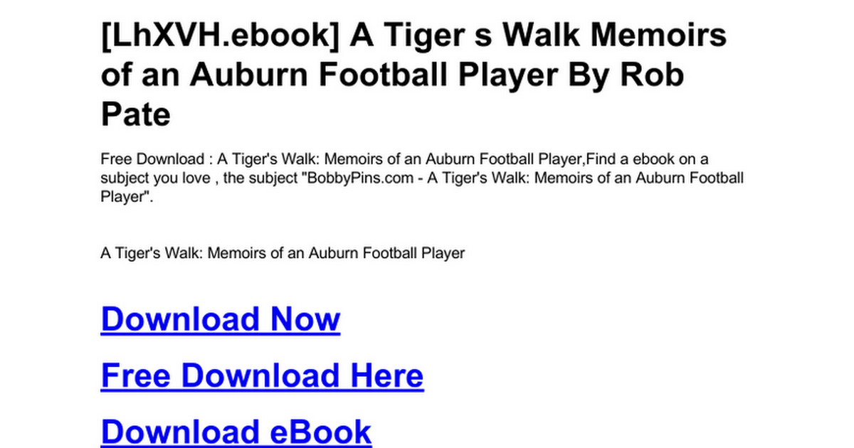 a tiger s walk pate rob