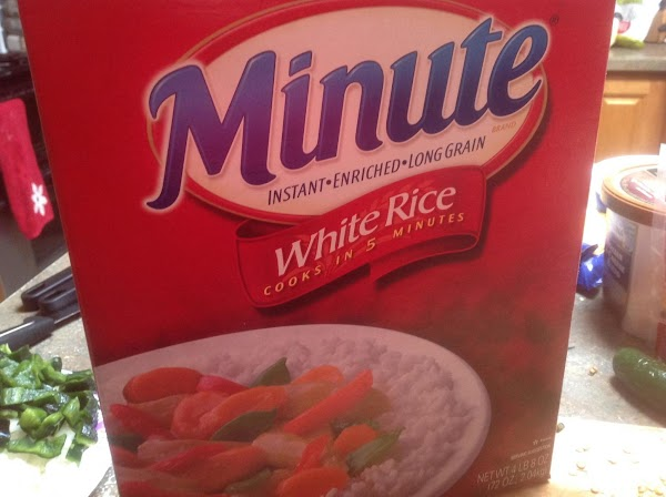 Cook minute Maid  Rice as directed on package. When done, add to skillet...