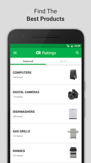 Screenshot 0 for Consumer Reports's Android app'