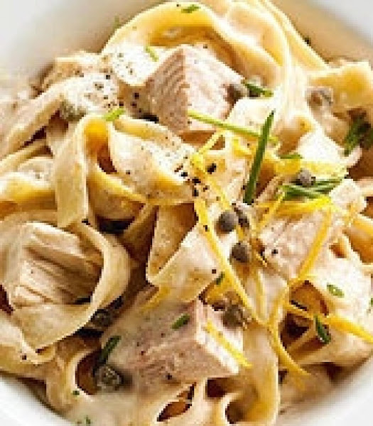 Lemon Fettuccine With Tuna And Capers Recipe