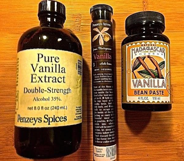 Vanilla:1 Vanilla Bean = 2 teaspoons Pure Vanilla Extract1 teaspoon Vanilla Paste or Powder...