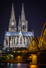 Photo: #Cologne  #cathedral  bei #river  #Rhine  in western #Germany  at #Night    #Dom  #Rhein  #Köln  #Hohenzollernbrücke  #Hohenzollernbridge  #Nachtaufnahme  #Nightphotography