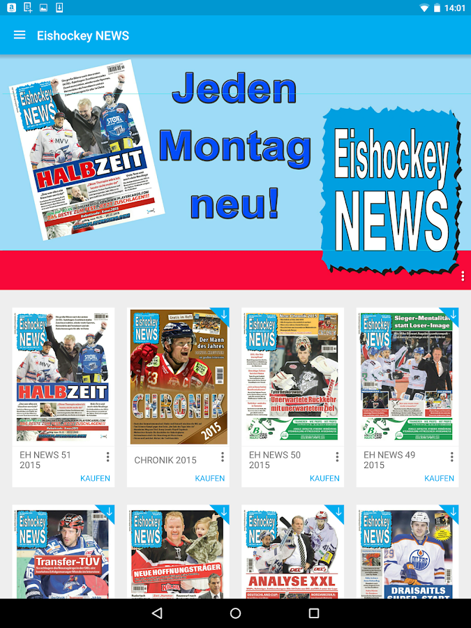 Eishockey News – Screenshot