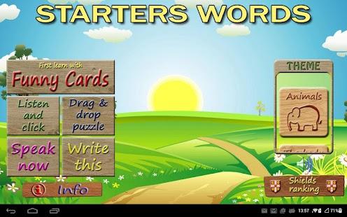 Starters Vocabulary para niños de primaria. - náhled