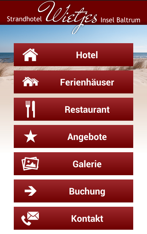 Strandhotel Wietjes Baltrum- screenshot