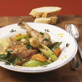 Chicken and Wine Casserole.