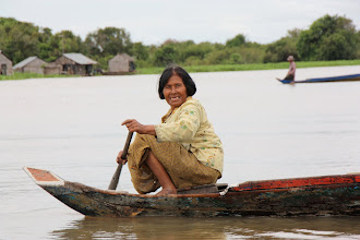 Photo: Year 2 Day 41 -  Coming Out to Meet our Taxi Boat
