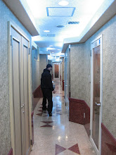 Photo: Matt reluctantly heading to our karaoke room...