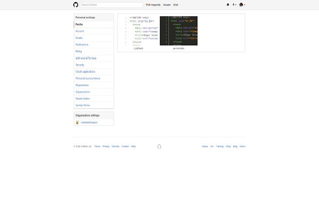 GitHub Scheme Syntax