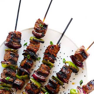 Asian Pepper Steak Kabobs.
