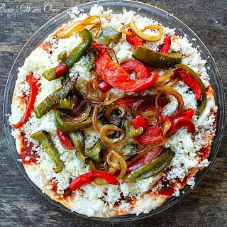 1 Dish Italian Meatball and Cheese Pizza Bake with Green and Red Peppers