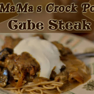 MaMa's Crock Pot Cube Steak.