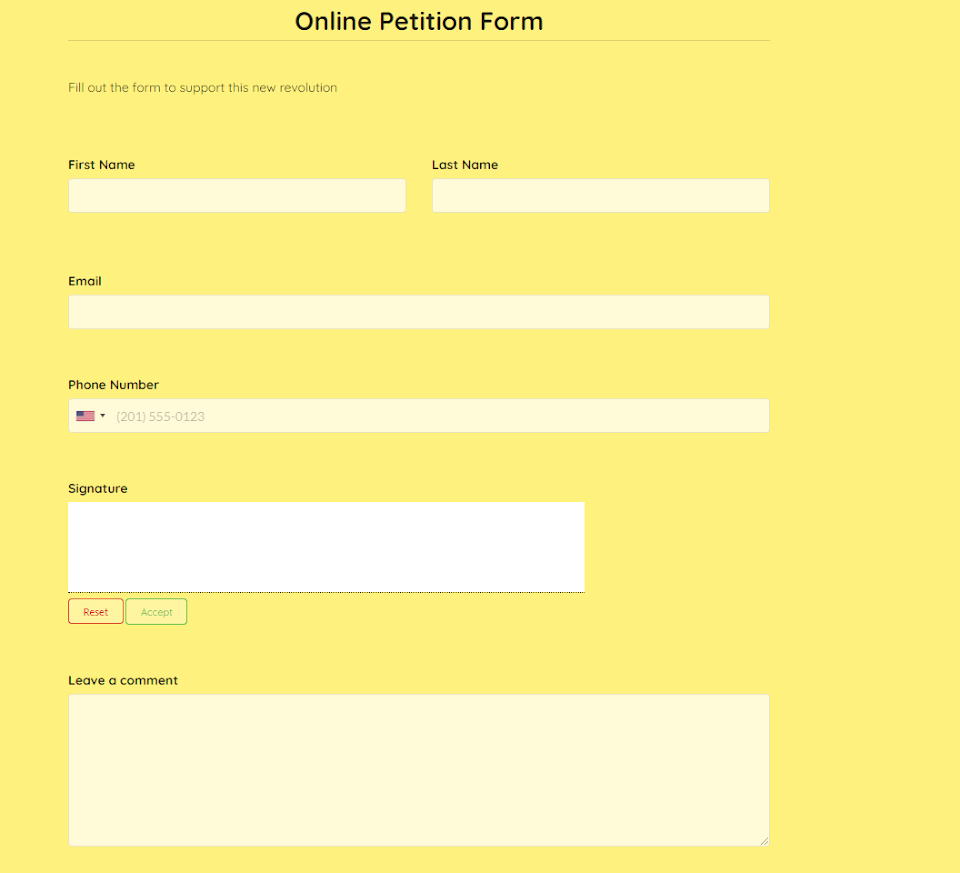 online-petition-form