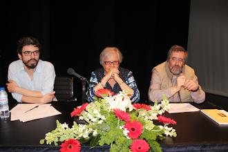 Photo: O júri das provas orais: João Tordo, Isabel Castanheira e José Carlos Faria