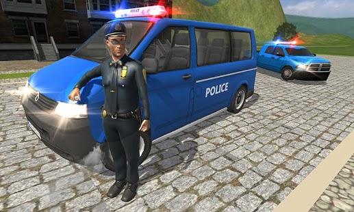 Policejní van městský řidič: policie vs gangster - náhled