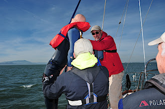 Photo: Hoisting BOB out of the water with our 3 to 1 Lifesling block and tackle