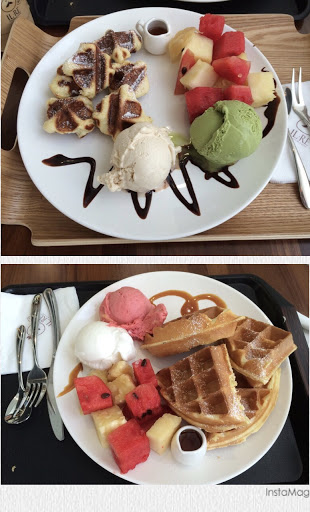 口味眾多的義式冰淇淋、鬆餅、咖啡店。還有好吃的曲奇餅可以選擇,餅乾不油膩,值得推薦