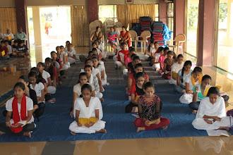 Photo: Madhyamik girls attending class
